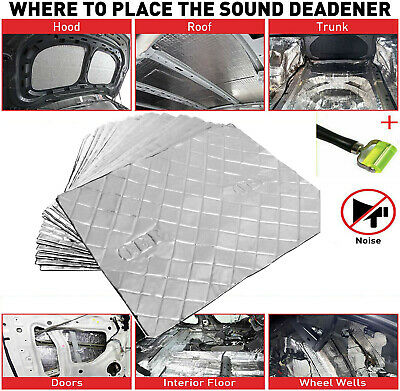 Universal Sound Deadening 2mm Compact 30 PACK Car Van Damping Mat For VW T5 FORD
