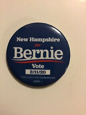 Official Bernie Sanders Button from 2020 New Hampshire Primary Campaign