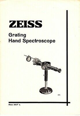 Carl Zeiss Grating Hand Spectroscope - English 1937