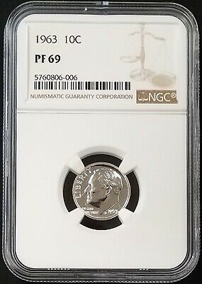 1963 Proof Roosevelt Dime certified PF 68 Cameo by NGC!