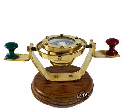 Collectible Gift Item For Marines/Soldiers Nautical Binnacle Compass Wooden Base