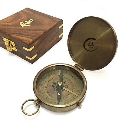 Valentine Anchor Compass Nautical Sign Wooden Box And Maritime Compass Hiking