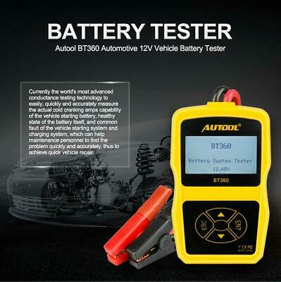 AUTOOL 12V Vehicle Car Battery Diagnostic Tester & Analyser