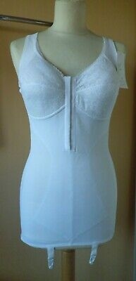 Vintage White Corselette by Shapely Lady 4 Suspenders Size 36B