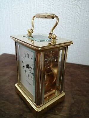 Vintage Antique Brass Carriage Clock, Made In England Taylor & Bligh key wound.