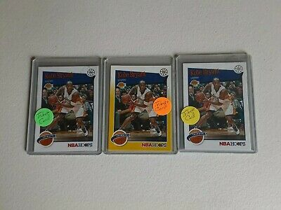 Kobe Bryant 3 card Tribute Lot 2019-20 Hoops Yellow and 2 white base cards.