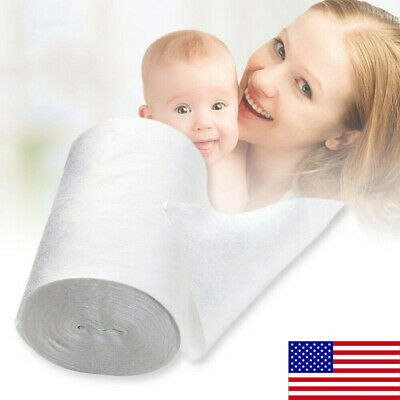100 Sheet/Roll Baby Flushable Biodegradable Cloth Nappy Diaper Bamboo Liners US
