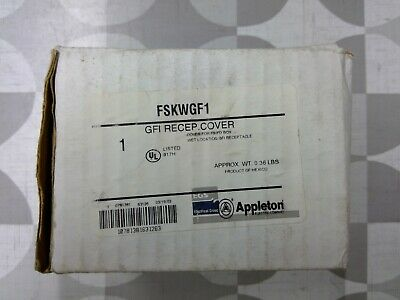 Appleton FSKWGF1 Wet Location GFI Receptacle Cover **Free Shipping**