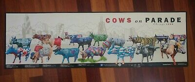 """Cows On Parade Poster 12"""" x 39"""" Chicago 1999"""