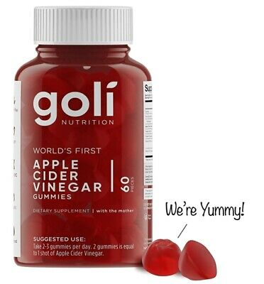 Goli - Nutrition Apple Cider Vinegar Gummies Vitamins With The Mother 60 Count