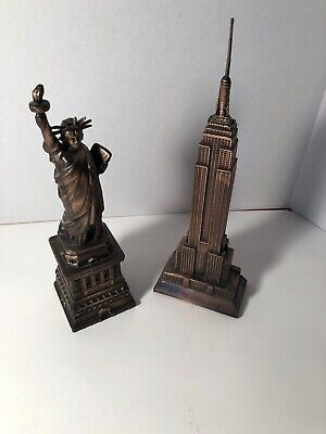 Statue Of Liberty Empire State Building Figurine New York Souvenirs