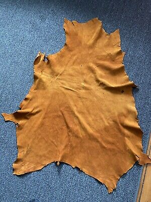 Med. Size Tanned Dark Brown Whitetail Deer Hide, Leather  , Mountain Men Leather