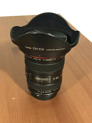 Canon EF 17-40mm f/4L USM + Lens Hood - Very Good Condition