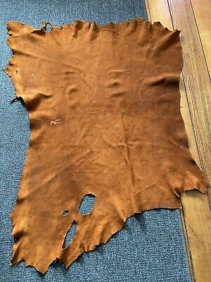 Large Dark Brown Tanned Whitetail Deer Hide / Leather , Mountain Men Leather