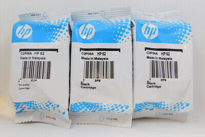 HP 62 3pack Combo 2 Black & 1 Color Ink New Genuine