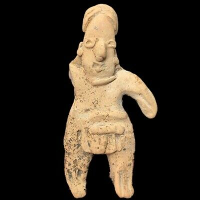 Very Rare Ancient Pre Columbian Idol In Found Condition 1200 B.c.