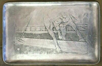 Wendell August Forge Vintage Hammered Aluminum Polo Tray 602