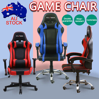 Gaming Chair Office Computer Leather Chairs Racer Executive Racing Seat