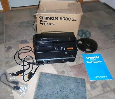 Chinon 5000GL Standard 8mm & Super 8 Variable Speed Movie Projector
