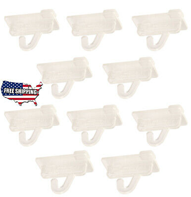 10X Clear Plastic Drop Ceiling Hooks Grid Track twist Ceiling Hanger SIGN Poster