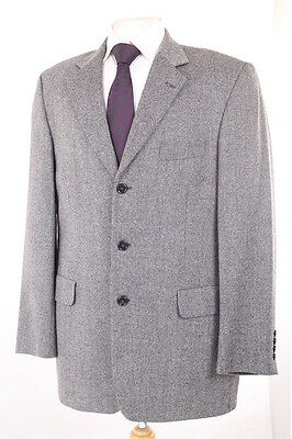 Austin Reed Grey Check 100% Wool Men's Sports Jacket 40R Dry-Cleaned