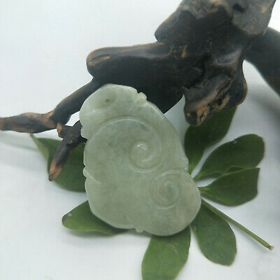 AAAAA Chinese Hand-carved aristocratic wearing Jadeite jade pendant RuYi