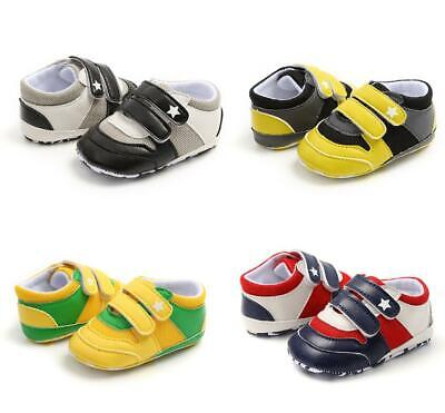 Baby Boys Girls Colorful Pram Shoes Infant Sneakers Toddler First Step Trainers