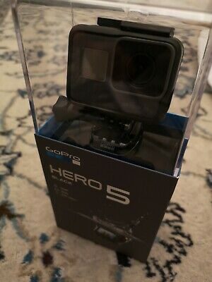 GoPro Hero 5 Black 4k Camcorder including accessories and sandisk 64gb SD card,