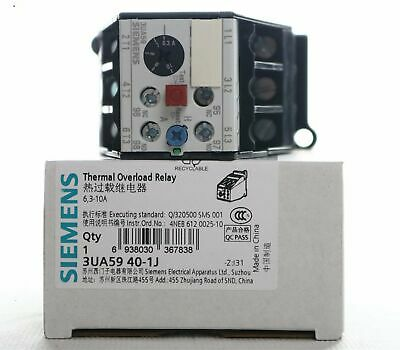 1PC NEW Siemens Thermal overload relay 3UA5940-1J 6.3-10A free shipping