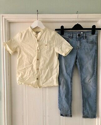Zara Boys Shirt And Jeans Set Age 7 Years