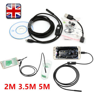 2/3.5/5M 7mm Lens Lens Endoscope USB Camera Borescope For Mobile Window Android