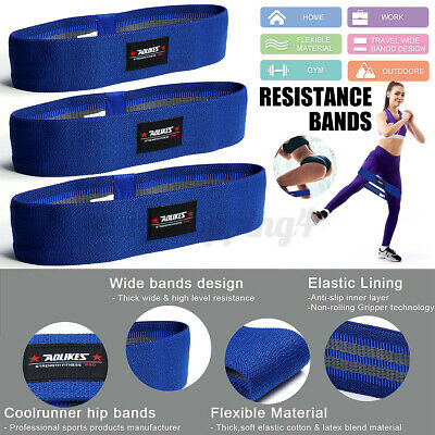 Resistance Bands HIP CIRCLE Glute Leg Squat Exercise Strength Booty Band NonSlip