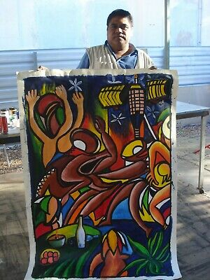 William Tupou ,Authentic Tongan Art, new condition, rare piece, painted in 2013