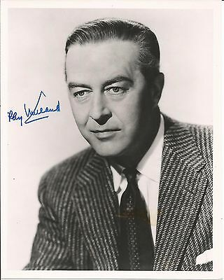 Hand Signed 8x10 photo RAY MILLAND - Bogart Fonda Wayne Cagney + RR Auction COA