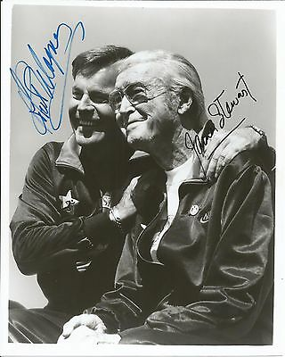Hand Signed 8x10 photo JAMES STEWART & ROBERT WAGNER + RR Auction COA