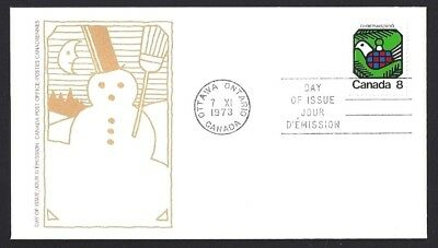 Canada  # 626    CHRISTMAS - DOVE     New 1973 Unaddressed