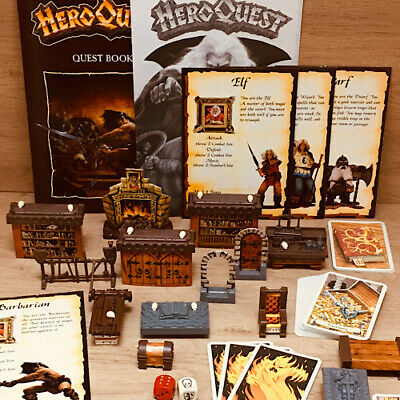 Heroquest Game Components Spares Multi-Listing Furniture Cards Dice Etc...
