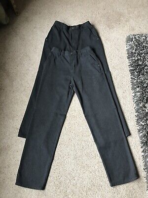 Next Boys School Trousers X 2 Pairs. Jeans Style,Grey, Age 16,Only Worn 3 Times.