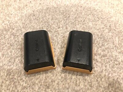 2 x Genuine Canon LP-E6 LPE6 Rechargeable 1800mAh Li-Ion Battery Packs - used
