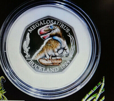 Dinosaur Limited Edition In Stock Silver Megalosaurus 50P Sold Out At Royal Mint