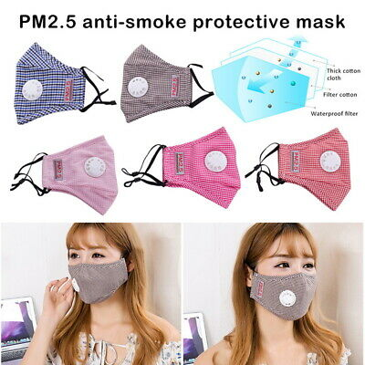 PM2.5  Face Mouth Mask Breathable Anti-dust Haze Flu Filter Respirator Washable.
