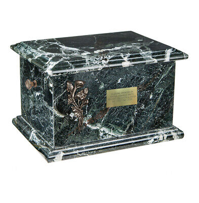 Onyx casket Cremation urn for Human Ashe Black Stone URN Personalised Memorial
