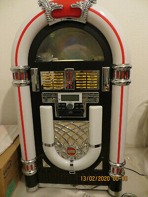 Retro Jukebox Radio Mp3 Cd Plattenspieler Usb Sd Mmc Slot Aux Led Lcd,