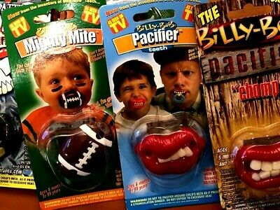 Bad Boy Get BOTH Authentic 2 PACK- Billy Bob Pacifiers Bad Ass