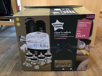 Tommee Tippee Black Closer to Nature Electric Steriliser Kit And Bottle Warmer.
