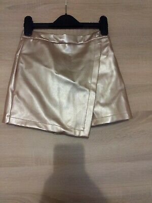 Girls River Island  Age 8 Leather Skirt