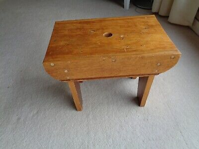 Vintage Rustic Milking Stool-Foot Stool-Seat Bench-Rustic Country Farm 43.5x28cm