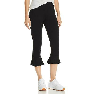 Michelle by Comune Womens Dixie Black Ruffled Comfy Casual Pants S BHFO 7929