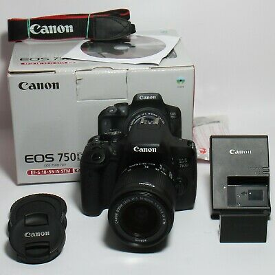 Canon EOS 750D 24,2 MP ( WLAN / NFC ) + Canon EF-S 18-55mm IS STM / Top Zustand
