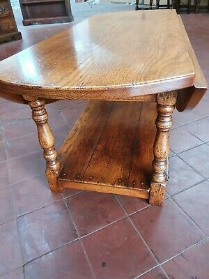 Antique/Reproduction English Solid Oak Pot-Board Coffee/Lounge Table Drop Leaf